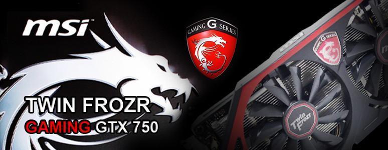 [XF] 免外接之低功耗高效能選擇 MSI 微星 GAMING GTX 750 TWIN FROZR