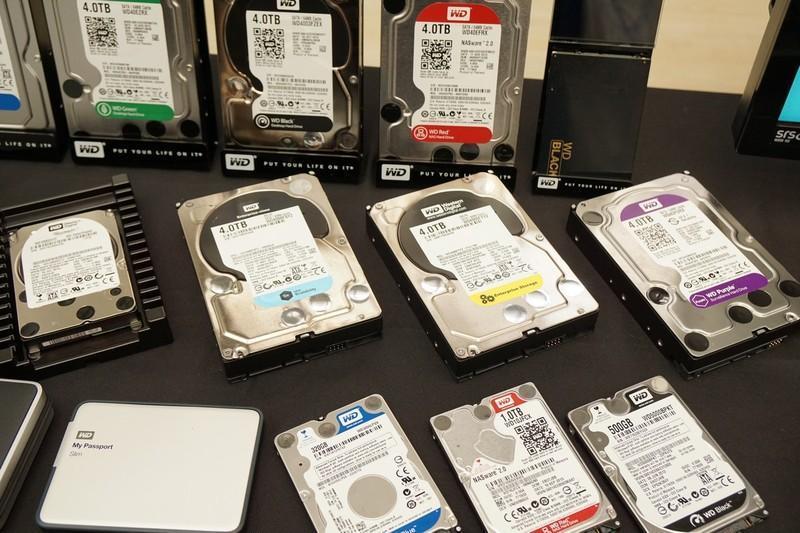 動靜見專業 5色最齊全 WD硬碟產品展示