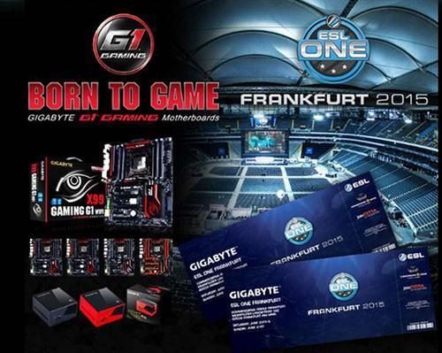 技嘉主機板及顯示卡獨家贊助ESL One Frankfurt 2015電競大賽