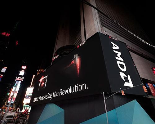 AMD點亮紐約時代廣場最大高解析螢幕 在百老匯街大放異采