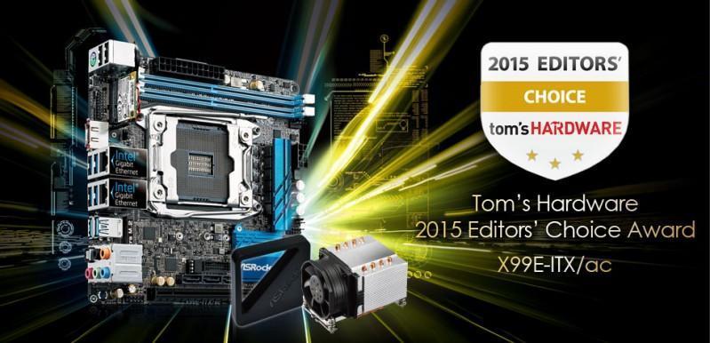 Tom's HARDWARE最高殊榮 華擎X99E-ITX/ac擒得編輯首選獎