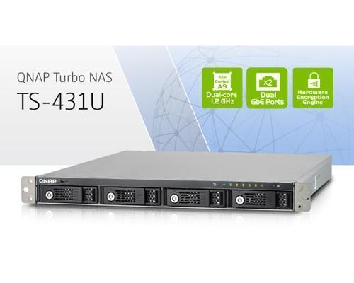 威聯通科技發表新款雙核心、高性價比、支援四顆硬碟的  機架式企業級 NAS