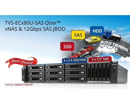 高速與精省兼備:威聯通推出支援 12G SAS 硬碟的 Intel Xeon 四核心  TVS-ECx80U-SAS-RP NAS