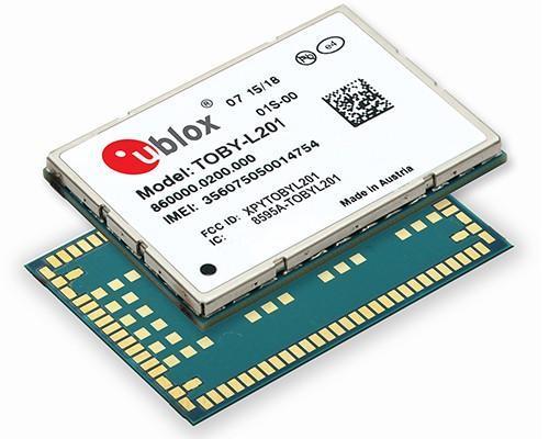 u-blox發表TOBY-L201 ─ 可支援多家電信業者的 150 Mbps 4G LTE和WCDMA模組