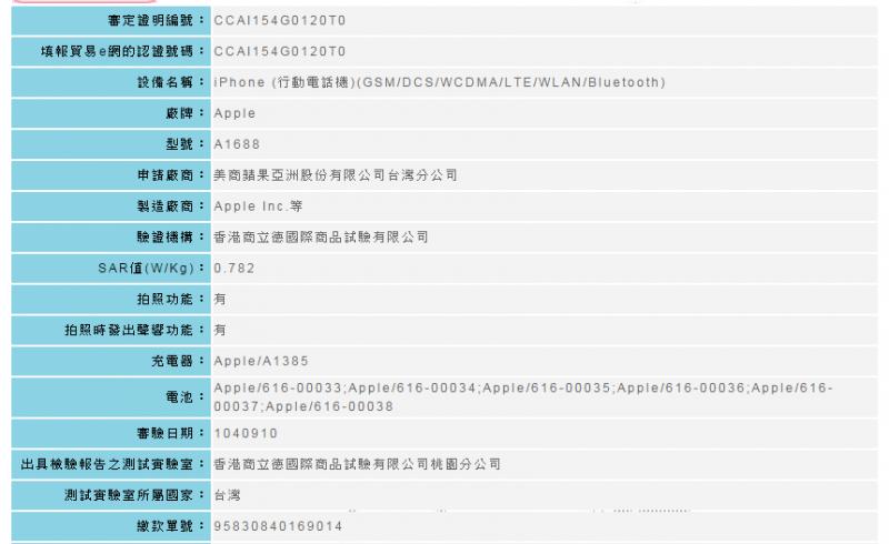 iPhone 6s/ iPhone 6s Plus 通過NCC認證,電信業者開放預購台灣上市日期不遠