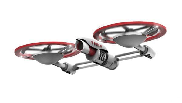 航拍「風火輪」:會變身的 Tesla Drone!