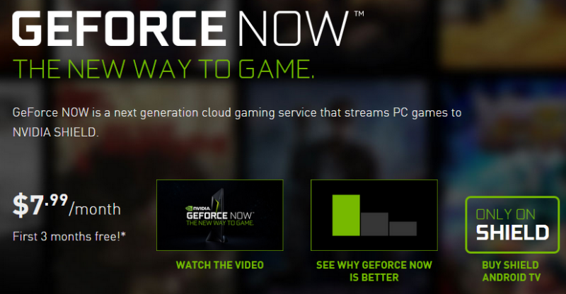 GeForce Now發佈,實現透過串流方式玩1080p遊戲