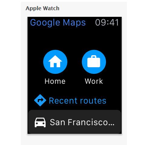 Google地圖最新版本可以在蘋果手錶上使用囉