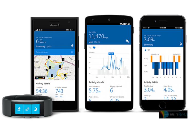 為了新推出的二代Band手環,微軟更新了Microsoft Health應用