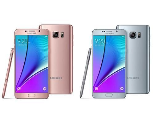 你有玫瑰金我也有粉紅金,Samsung Note 5推出玫瑰金和鈦銀兩色