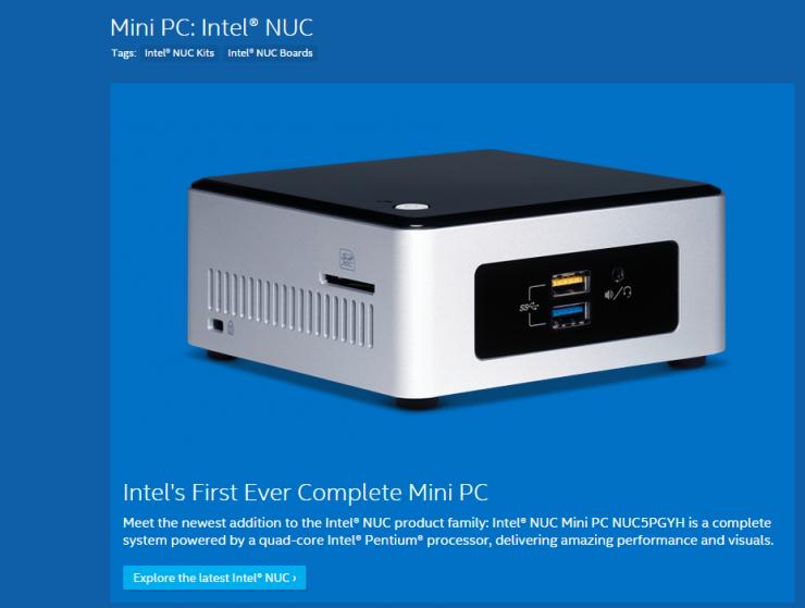 終於圓滿了!最新款的Intel NUC迷你主機上線