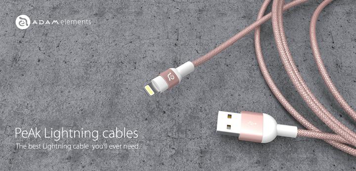 亞果元素PeAk Cable玫瑰金色登場