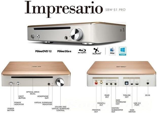 ASUS Impresario預計12月上市 音效與燒錄功能結合