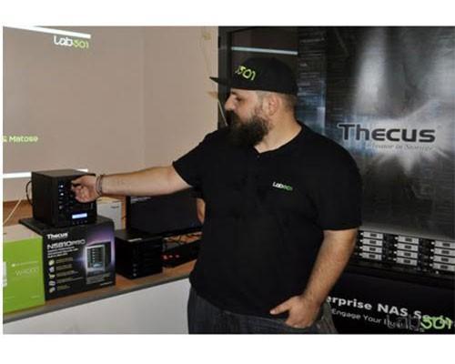 Thecus色卡司於LAB501展示會場中大放異彩 布加勒斯特LAB501展示色卡司最新網路儲存產品