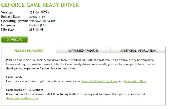 NVIDIA釋出新版驅動,GeForce 359.00推出,玩家可以更新囉!!