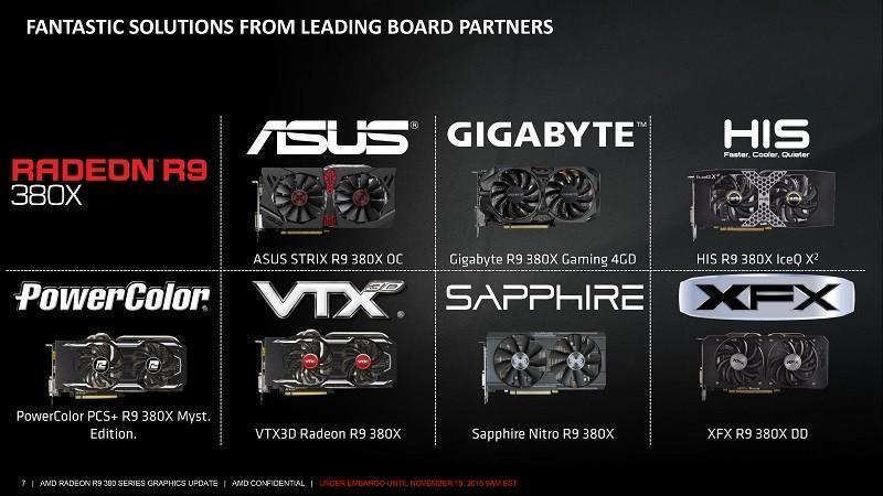 AMD Radeon R9 380X登場 完整Tonga核心