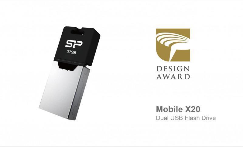 SP廣穎電通Mobile X20雙用隨身碟榮獲2015金點設計獎