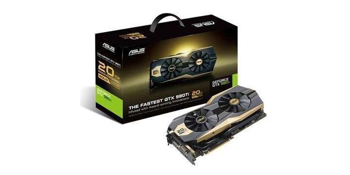 ASUS推出20周年黃金版GTX 980Ti顯示卡