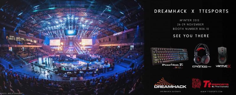 曜越與電競品牌Tt eSPORTS聯袂出擊參加 DREAMHACK瑞典2015冬季全球最大電競盛事