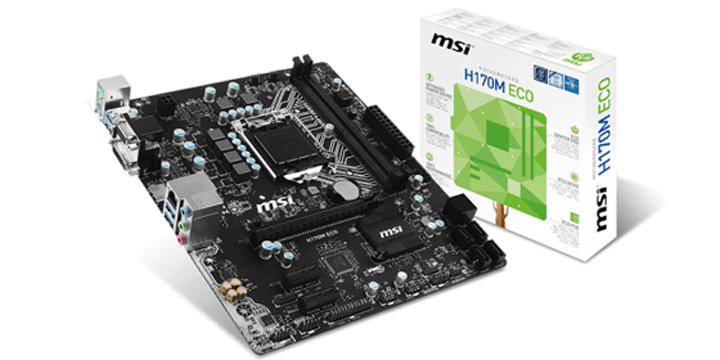 MSI推出Skylake系列ECO主機板