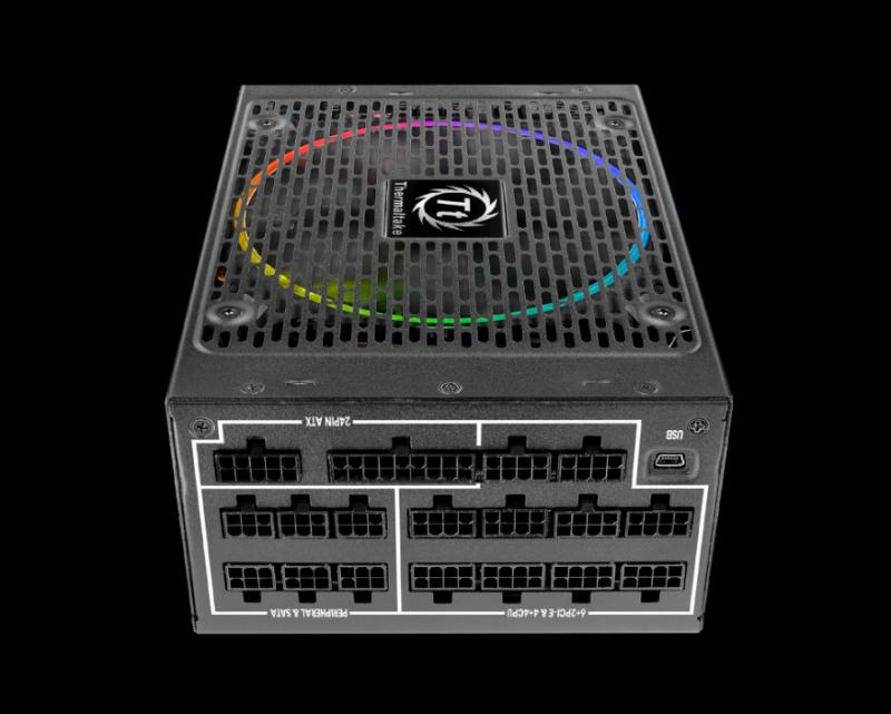 曜越首創世界第一計算碳排放RGB 256色專利設計綠能電源Toughpower DPS G RGB 1250W