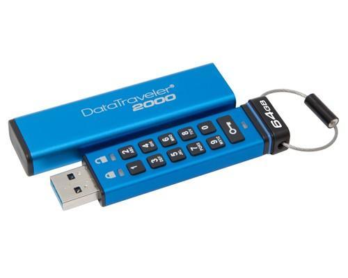 Kingston推出全新數字鍵加密隨身碟