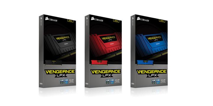 Corsair海盜船最新的Vengeance LPX系列記憶體最高頻率可達3600MHz