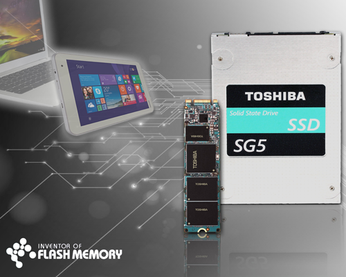 TOSHIBA強勢推出內建TLC NAND客戶端固態硬碟 SG5系列!