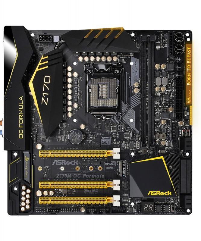 記憶體超頻上4500MHz,ASRock華擎Z170M OC Formula登場