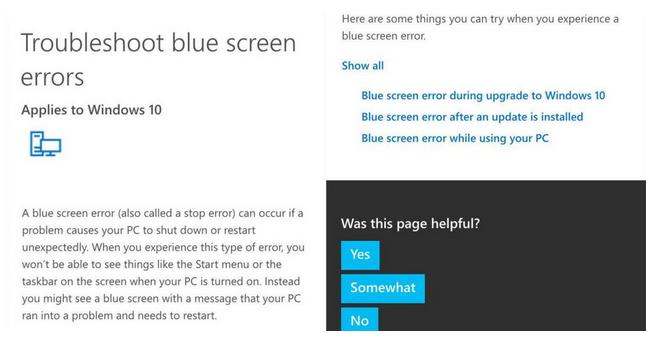 Windows 10 的藍底白字也進化,當機時你可以掃描QR Code了!