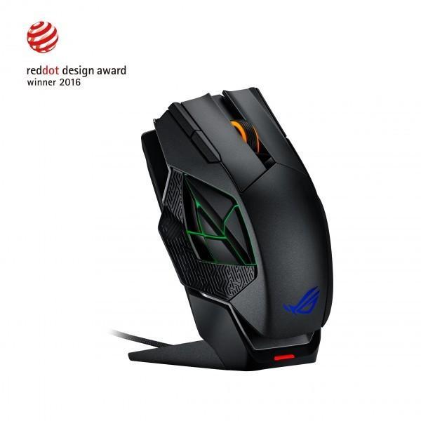 華碩發佈ROG Spatha無線電競MMO滑鼠 無線有線雙模