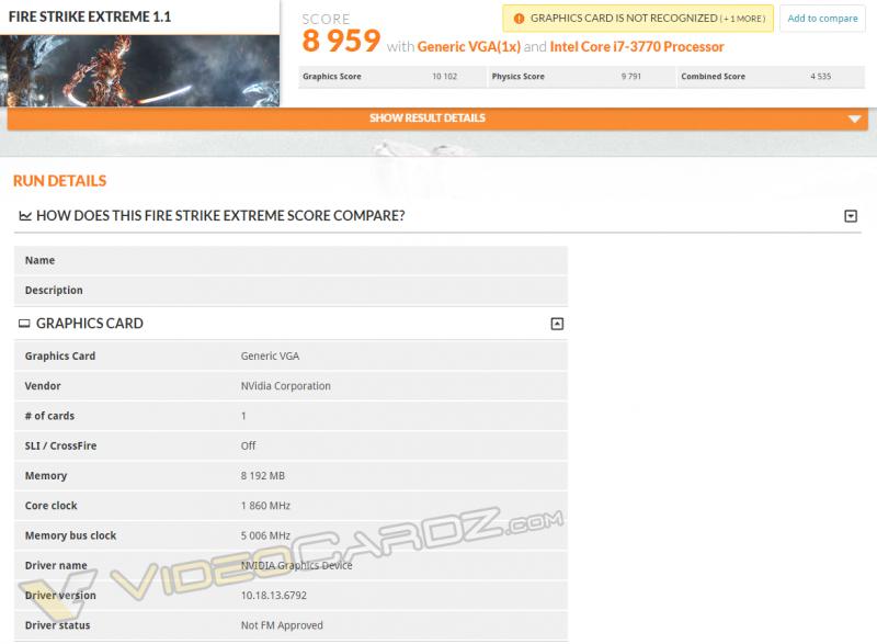 GTX 1080跑分校能曝光,效能較GTX980Ti強15%
