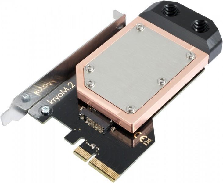 Aqua Computer推出M.2用散熱器,kryoM.2空冷水冷皆有