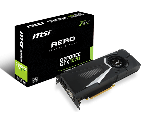 MSI微星發表六款GTX 1070顯示卡並且推出VR Boost Kit