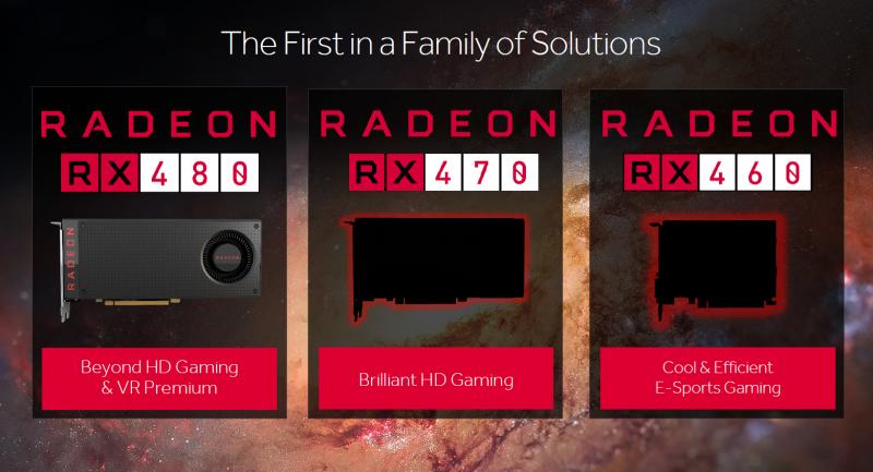 AMD RX480、RX470和RX460顯示卡定位不同,依據市場主打平民價格獲得更加效能享受