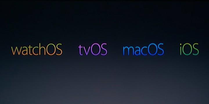 Apple全家族進行更新 - iOS/OSX/WatchOS/tvOS全部包含在內