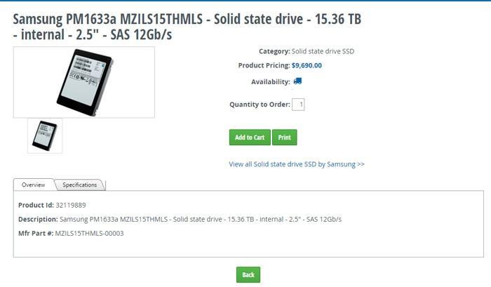全球最大的SSD硬碟開賣:15TB容量,售價9690美金