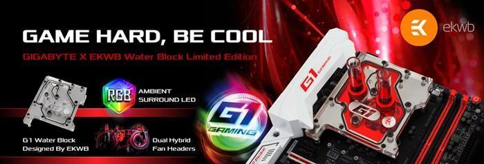 GIGABYTE 技嘉發表限量版本的X99和Z170主機板,搭配EK CPU水冷頭