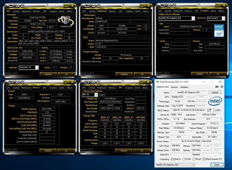 ASROCK B150M-PRO4S 半套升級 + 測試