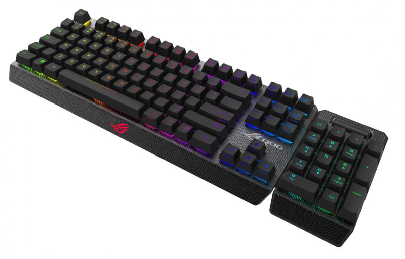 ASUS ROG Claymore RGB鍵盤87鍵部分登場,數字鍵盤還要再等等