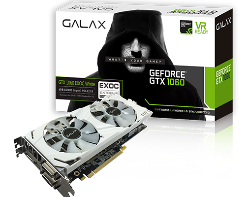 GALAX推出白色GTX 1060 EX OC White 6GB顯示卡 - XFastest - GALAX GTX1060_EXOC White BOX Card5.png