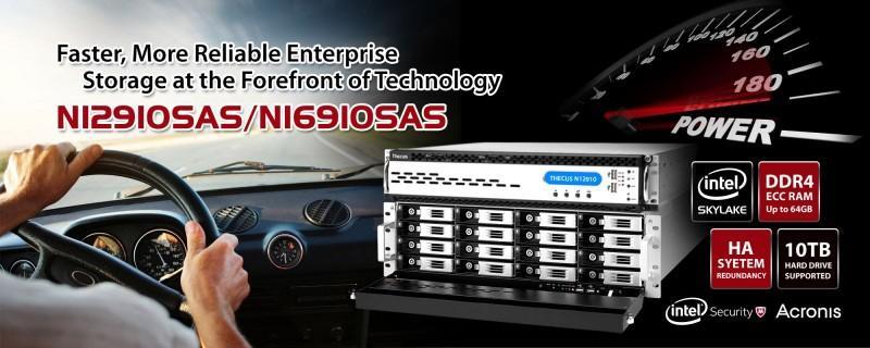 Thecus(R)推出最新支援SAS 12G硬碟的N12910SAS及 N16910SAS機架產品