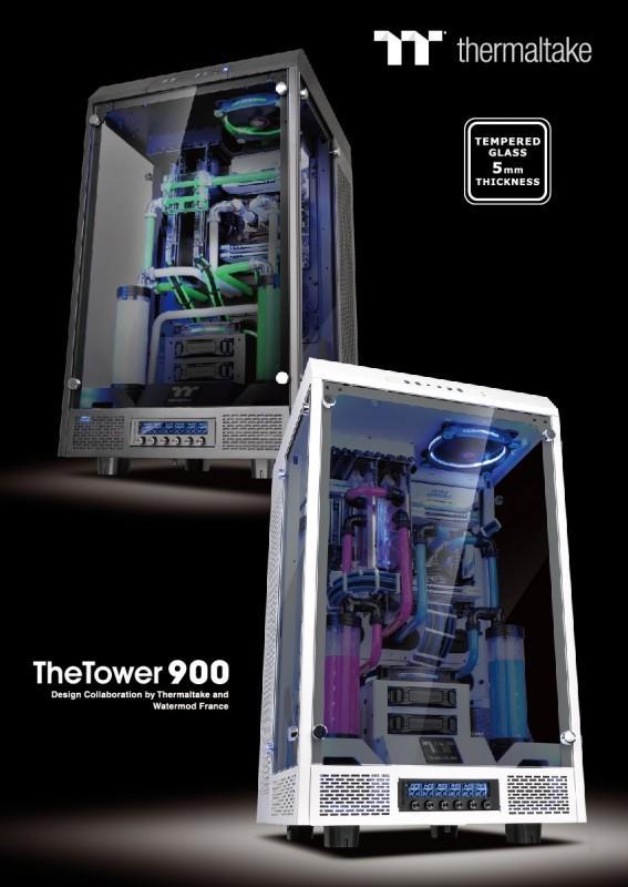 曜越與曜越電競Tt eSPORTS參加2016巴黎電玩展Paris Games Week 全新Project The Tower 900 TG全景直立...