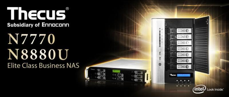Thecus發表中小型企業網路儲存裝置-N7770與N8880U