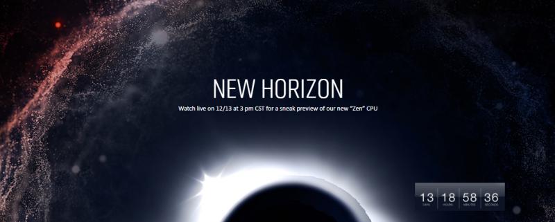 NEW HORIZO新地平線美好前景到來 ,AMD新款處理器即將於下月中公開