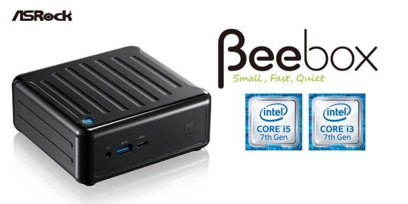 華擎Beebox-S搭載Intel®第七代Core處理器支援4K超高解析、10-bit廣色域、HDR高動態