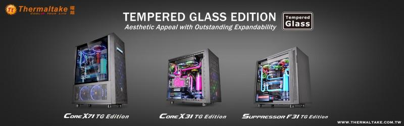 曜越全新Core X71.Core X31.Suppressor F31 鋼化玻璃版直立式開窗機殼 優異擴充‧極致散熱‧...