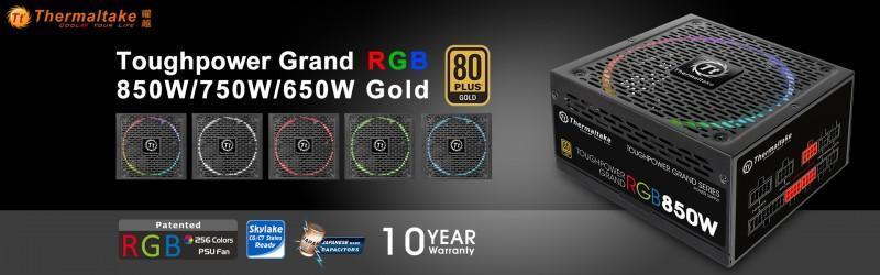 曜越全新Toughpower Grand RGB金牌系列電源供應器