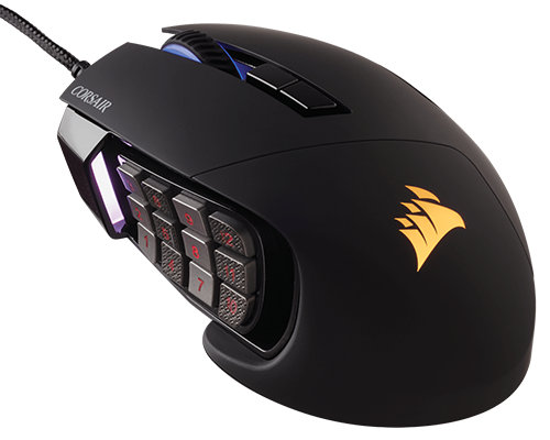 CORSAIR推出新款Scimitar PRO RGB Optical MOBA/MMO電競滑鼠 - XFastest - Scimitar_PRO_BLK_01500400.png