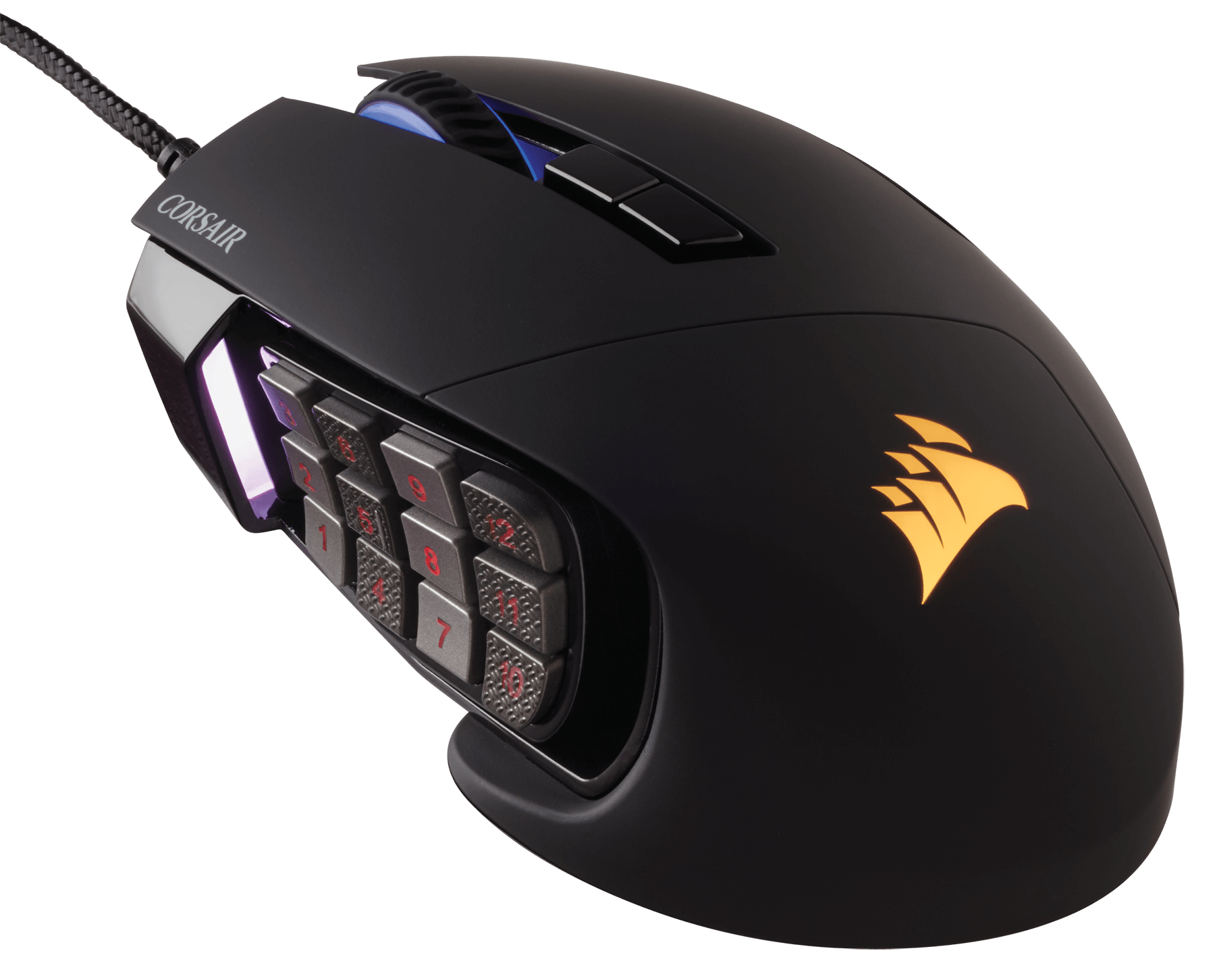 CORSAIR推出新款Scimitar PRO RGB Optical MOBA/MMO電競滑鼠 - XFastest - Scimitar_PRO_BLK_01.png
